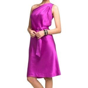 NWT✨Banana Republic One Shoulder Silk Dress
